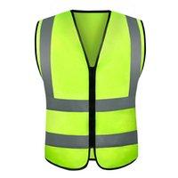 gilet de sécurité v réfléchissant achat en gros de-gilets jaunes ou vestes jaunes Gilet Vêtements de sécurité pour le plein air réfléchissants, fluorescents et réfléchissants YellowColor Running Ventilate Safe High