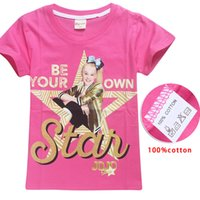 Wholesale black shirt for baby girl for sale - Group buy 2018 New Summer Jojo Siwa Shirts Baby Girls Tshirts Short Sleeve T Shirts For Kids Bobo Choses T shirt Child Sport Clothes y Y19051003