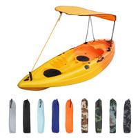 toldos de sol al por mayor-Refugio sola persona Kayak Sun del barco de vela Toldo cubierta superior Kayak barco canoa Parasol Canopy Pesca Carpa lluvia de Sun Canopy MMA1959-1