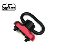 Wholesale qd sling adapters resale online - QD Sling Swivel Keymod Slot Adapter Rail Mount Kit Red color QD Swivel Included