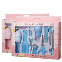 Wholesale kids hair combs online - 10pcs set baby care Kits Toddler Grooming Health care Nail nose Hair Care Set Nail Clipper Hair Comb Multi Tool Health set kids gift FFA1744
