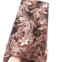 líquido para vestidos de casamento materiais venda por atacado-Últimas New Net Lace Material do casamento Africano Francês Lace Fabric Peach Branco 2019 nigeriano Laces tecidos de alta qualidade para o vestido