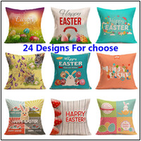 Wholesale pillow slips resale online - Easter Pillow Case Throw Cushion Covers Linen Simple Decorative Pillow Case slip Easter Fesitival Home Decor Gifts styles HH7