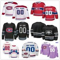 хоккейная джерси дрюин оптовых-Custom Montreal Canadiens # 28 Майк Рейли 20 Николас Делауриер 76 П.К. Subban 92 Jonathan Drouin Мужчины Женщины Дети Дети Хоккейные майки
