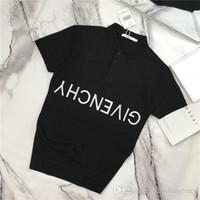 camiseta unissex venda por atacado-19ss Paris Bordado Polo lazer Tee Camiseta Respirável Unisex de Manga Curta Tshirts Das Mulheres Dos Homens blusas T-shirt Casual Streetwear Ao Ar Livre