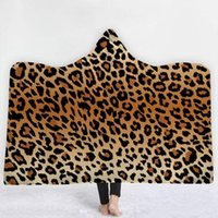 Wholesale travel baby blanket for sale - Group buy Leopard Grain Blanket Hooded Blankets Zebra Printed Hooded Cloaks Baby Blanket Warm Wrap Towel Outdoor Travel Cloak For Adult DBC VT0593