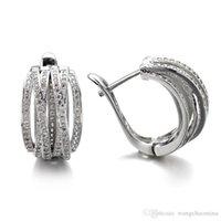 Wholesale zircon copper hoop earrings online - Big circle earrings fashion luxury fashion quality elegant all match A zircon hoop earrings female hoop earrings for women