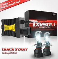 комплект спрятанной лампы h4 оптовых-TXVSO8 55Wx2 H4 Xenon HID Headlamps Replace KIT Bulb Car Headlight 9003 HB2 Hi/lo 3000K 4300K 5000K 6000K 8000K 10000K 12000k