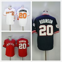3491c38b Wholesale men size baseball jersey for sale - Frank Robinson Jersey  Baltimore Cleveland Jerseys White Red