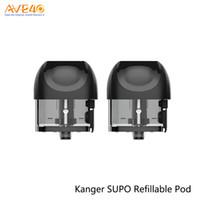 kangertech kitleri toptan satış-Kangertech SUPO 2 ml Doldurulabilir Boş Pod Kartuş için Kangertech SUPO Kiti MTL / DL Vape 2 adet / paket 100% Orijinal