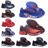 оранжевые синие кроссовки мужчины оптовых-Nike air max TN 2019 Triple white Tn Mercurial Plus TN Ultra SE Running Shoes For Men Women Sliver gold orange Chaussures Athletic Sports Sneakers