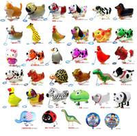 şişme pet balonu toptan satış-500 adet Yüksek Kaliteli Yürüyüş Hayvan Balon Şişme Alüminyum Yürüyüş Hayvan Balon Noel Partisi Dekorasyon