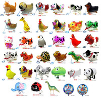 globo inflable para mascotas al por mayor-500 unids alta calidad caminando Animal globo inflable de aluminio caminando mascota globo fiesta de Navidad decoración