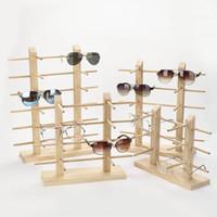 prateleira de pc venda por atacado-1 Pcs De Madeira Sunglass Display Rack Prateleira De Madeira Durável Óculos Show Stand Titular QL Venda