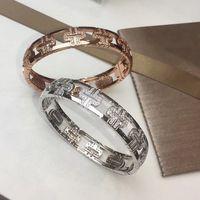 Wholesale crystal bracelets designs for sale - Group buy New stainless steel top design fashion B letter luxury crystal couple bracelet K rose gold ladies charm bracelet