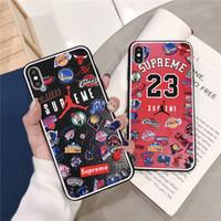 ingrosso galassia s4 per telefoni cellulari-Custodia sottile Custodia per telefono di design per iPhone XR Custodia per telefono in PU per iPhone XS Max 7/8 Plus Custodia per cellulare resistente agli urti