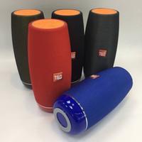 mini tissu usb achat en gros de-TG108 tissu portable sans fil Bluetooth haut-parleur extérieur stéréo son haut-parleurs FM Radio Subwoofer soutien TF carte AUX USB pour téléphone