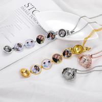 Wholesale necklace pendant for boys resale online - Magic Photo Pendant Memory Floating Locket Necklaces For women Men Boy Girl family Angel Wings Flash Box Fashion Album Box Jewelry