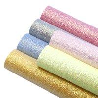 tecido de couro metálico venda por atacado-20 * 34 cm Plain Colorido Fino Metálico Glitter Faux Folhas De Tecido De Couro Sintético, materiais artesanais DIY para saco 91604
