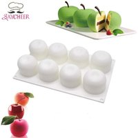 Wholesale apple shape cake resale online - DIY Cavities Apple Shape D Silicone Molds For Cake Mousse Pastry Baking Tools Cake Decorating
