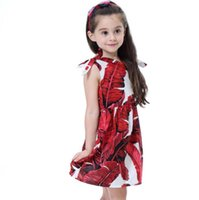 en iyi kız elbisesi modeli toptan satış-Yeni Kızlar Longuette pamuk Kırık çiçekler Elbise Elbiseler Kız Gelinlik Modelleri Yaz Prenses Elbise en kaliteli 4-20 lw44