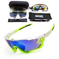 Wholesale 3Lens Sunglasses Men Bike Polarized Eyewear Cycling Glass Goggles Lunette Soleil Homme Sport Riding Sunglasses With Myopia frame