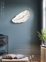 relojes de pared modernos al por mayor-Nordic Mute Light Reloj de pared de lujo Diseño moderno Reloj 3D Hojas hermosas Decoración de la sala de estar Pared de cuarzo Grande