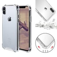 ingrosso disegni della pittura della lettera-Trasparente antiurto acrilico ibrido paraurti armatura morbido TPU Frame PC Custodia rigida per iPhone XR XS MAX 8 7 Samsung S10 Plus
