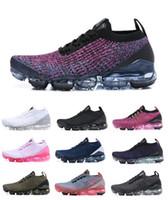 siyah erkekler spor koşu ayakkabıları toptan satış-HAVA 2019 buharları Tasarımcı Ayakkabı Koşu Kadın Erkek Mercurial Artı Ultra açık çalışma programı Eğitmenler Üçlü Siyah moda sneakers spor ayakkabı