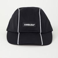 moda casual sombrero para el sol al por mayor-19SS AMBUSH REFLECTOR CAP Fashion Logo Hat Cap Street Travel Sunhat Fishing Casual Sun Hat Summer Outdoor Sports Hats HFYMMZ018