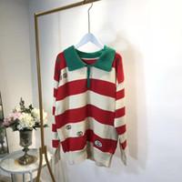 Kaufen Sie im Großhandel Rote Weiße Gestreifte Pullover