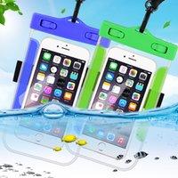ingrosso coperture subacquee samsung-Custodia impermeabile per telefono cellulare per iPhone X Xs Max Xr 8 7 Custodia per telefono cellulare impermeabile sottoterra in silicone trasparente S9 Samsung S9