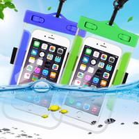 wasserdichte abdeckungen für mobiltelefone großhandel-Wasserdichte handy case für iphone x xs max xr 8 7 samsung s9 klar pvc versiegelt unterwasser handy tasche abdeckung