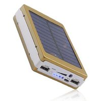 carregador portátil venda por atacado-30000mah Solar Battery Chargers Camping portátil luz Duplo USB Solar Energy Panel Power Bank com luz LED para o telefone móvel PAD Tablet