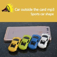 Wholesale can mp3 player resale online - Stylish car MP3 plug in music player with small sound box and colorful LED light flashing can be a mini audio