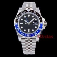 gmt armband großhandel-Schwarz Blau JUBILEE ARMBAND Keramik Lünette Designer Mechanische Automatische Gmt Männer Luxus Herrenuhr Datum Armbanduhren Mode Uhren