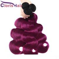 Wholesale ombre human braiding hair for sale - Group buy Fashionable b Purple Ombre Hair Extensions Cheap Body Wave Virgin Brazilian Human Hair Ombre Weaves Top Quality Braiding Retail Bundles