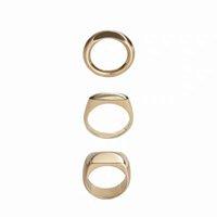 anillos geniales para chicas al por mayor-2019 Ins! Anillo de metal ascético, brisa fresca, oro y plata, dos colores, anillo de cobre chapado en oro con anillo abstracto.