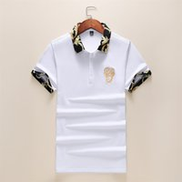 2c7dc1408 Summer 2019 short sleeve polo shirt men cotton brand Tace   Shark poloshirt  striped solid 3D embroidery men s polo shirts 3XL
