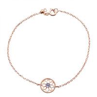 ingrosso fiori selvatici blu-2019 nuova estate piccolo fiore fresco sole fiore braccialetto d'argento s925 oro rosa blu loto temperamento bracciale donna selvaggia