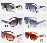 schwarze quadratische brillengläser großhandel-6 farben siliver schwarz sonnenbrille brillengestell new desinger frau sonnenbrille uv400 große größe quadratischen rahmen gläser neue oculos de sol 10 stück