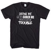 jeans mes venda por atacado-Me bêbado me manda em um monte de problema camiseta Top engraçado joke EM16 camisas de marca jeans