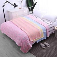 hilo de la colcha al por mayor-Gasa Hilo Toalla Mantas Verano Thilt Quilt Aire acondicionado Habitación Colcha Jacquard Tejido Throw Blanket Siesta de la cama Funda de cama
