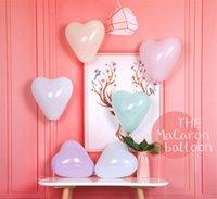 doğum günü kalp balonları toptan satış-100 adet 12 inç Kalp şeklinde Balon Lateks Balon Mutlu Doğum Günü Balon Düğün Dekorasyon Ballon Olay Parti Malzemeleri ücretsiz kargo