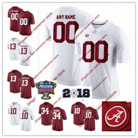 jerseys de mujer al por mayor-Custom Mens Women's Youth Alabama Crimson Tide Fútbol universitario # 29 Minkah Fitzpatrick 22 Najee Harris White Red Limited cosida Jerseys