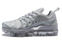 mtb schwarzes gold großhandel-TN Plus Herren Designer Schuhe VM Oliv In Metallic Weiß Silber Colorways Herren Schuhe Für Running Herren Pack Triple Schwarz Herren Shoes40-45