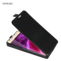 leagoo phone venda por atacado-Couro EVOLOU couro Para Leagoo M8 Tampa Traseira de Luxo Vertical Flip Cover para Leagoo M8 Pro 5.7 \