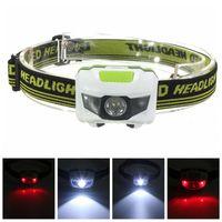 ingrosso 3w luce rossa del branello principale-3W luce bianca LED fari doppia lampada perline spia rossa spia esterna multi funzione gufo testa luce vendita calda 5qtI1