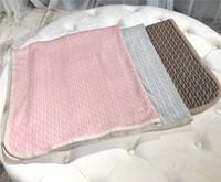 Wholesale plain beds resale online - New Born Baby Blanket Knitted Newborn Swaddle Wrap Blankets Super Soft Toddler Infant Bedding Quilt for Bed Sofa Basket Stroller Blankets