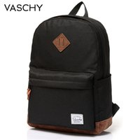 Wholesale classic style men backpack resale online - Backpack for Men and Women VASCHY Unisex Classic Water Resistant Rucksack School Backpack Inch Laptop for TeenageR T191021